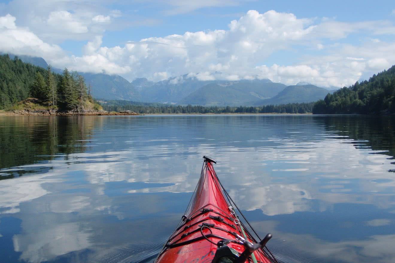 Calm and protected waters inside Vancouver Island make visiting Desolation Sound one of the best kayak trips in BC