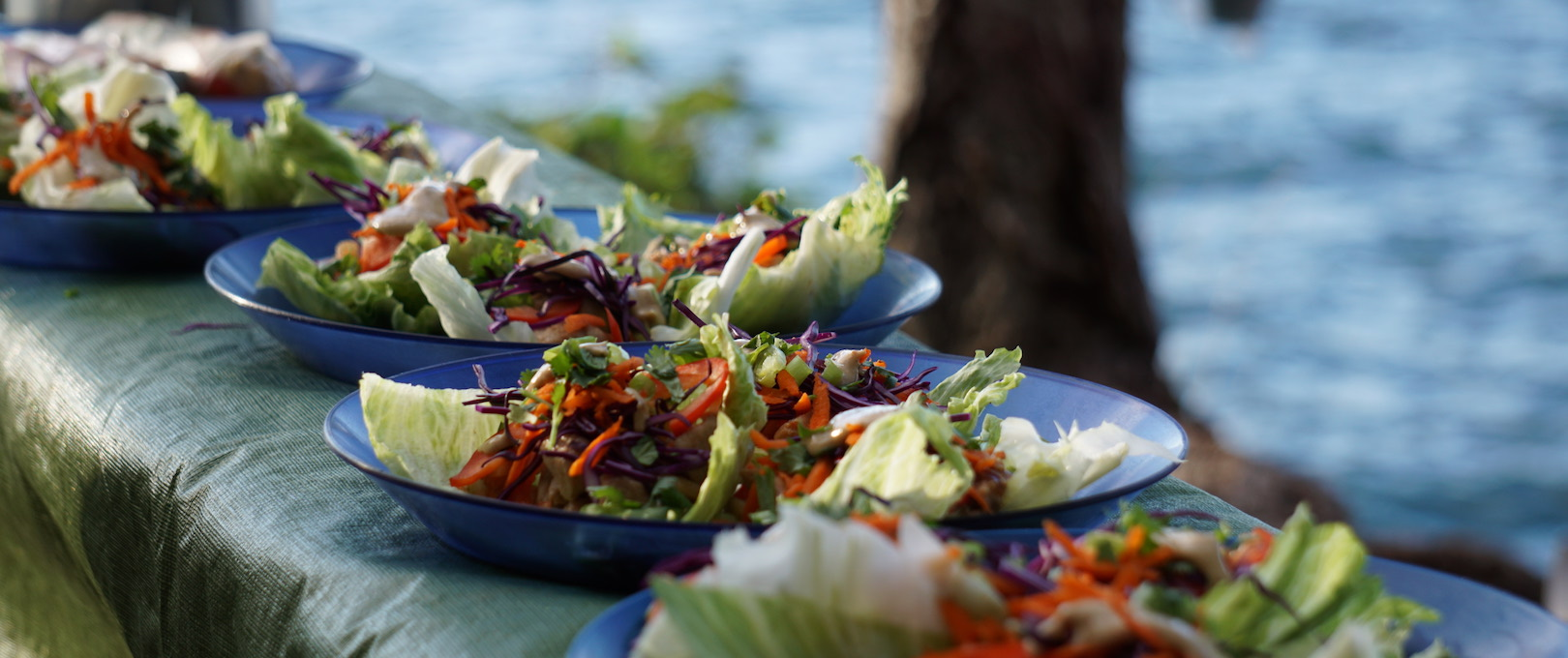 We serve creative, colourful meals like this on all our multi-day kayak tours