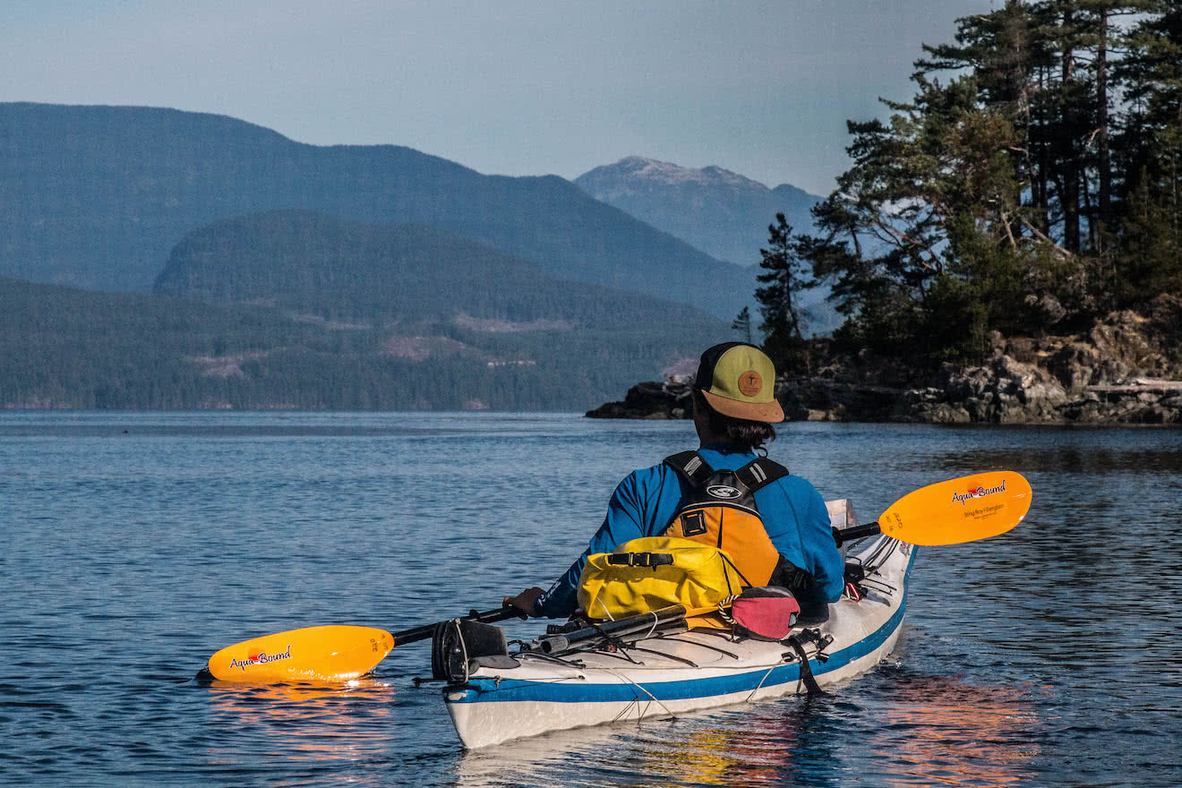 Sea kayaking in the Rendezvous Islands, north-west of West Redonda Island