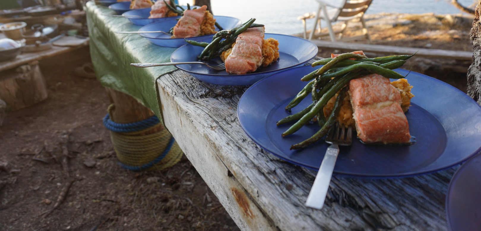 Our sea kayak expeditions serve fresh and inspiring meals despite our remote environments