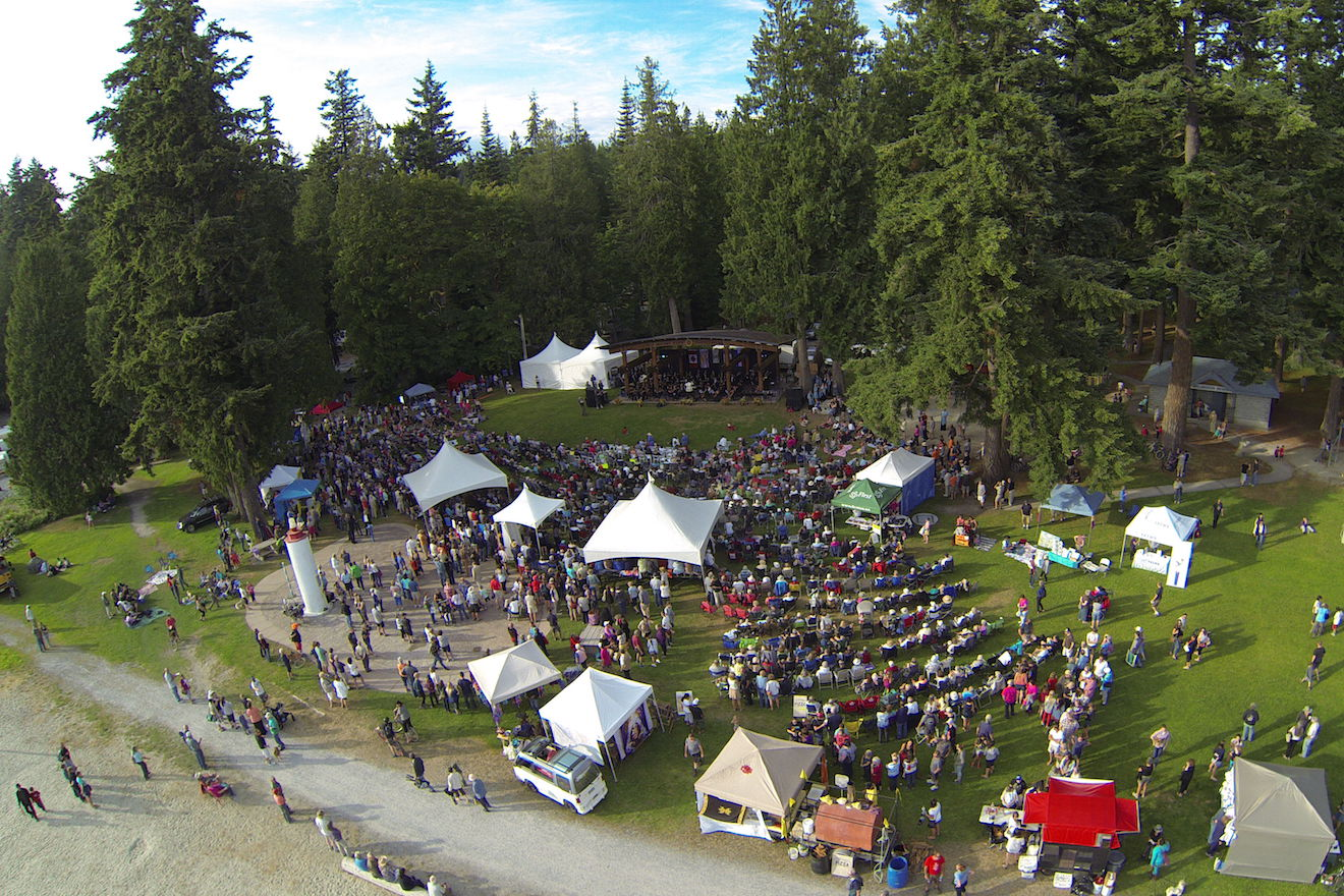 PRISMA festival at Willingdon Beach in Powell River
