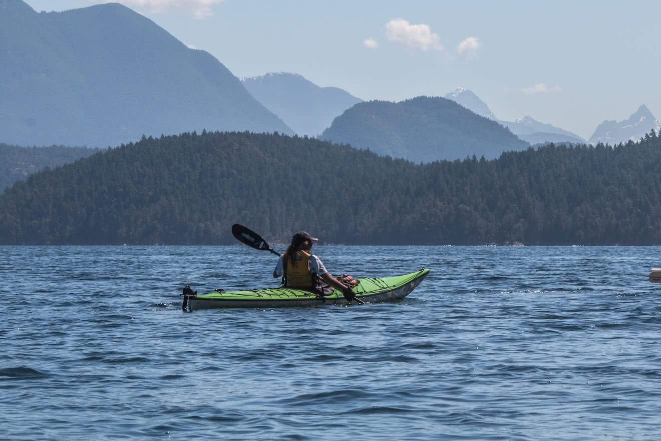 Family kayak tours can be empowering for children exploring the outdoors by sea kayak