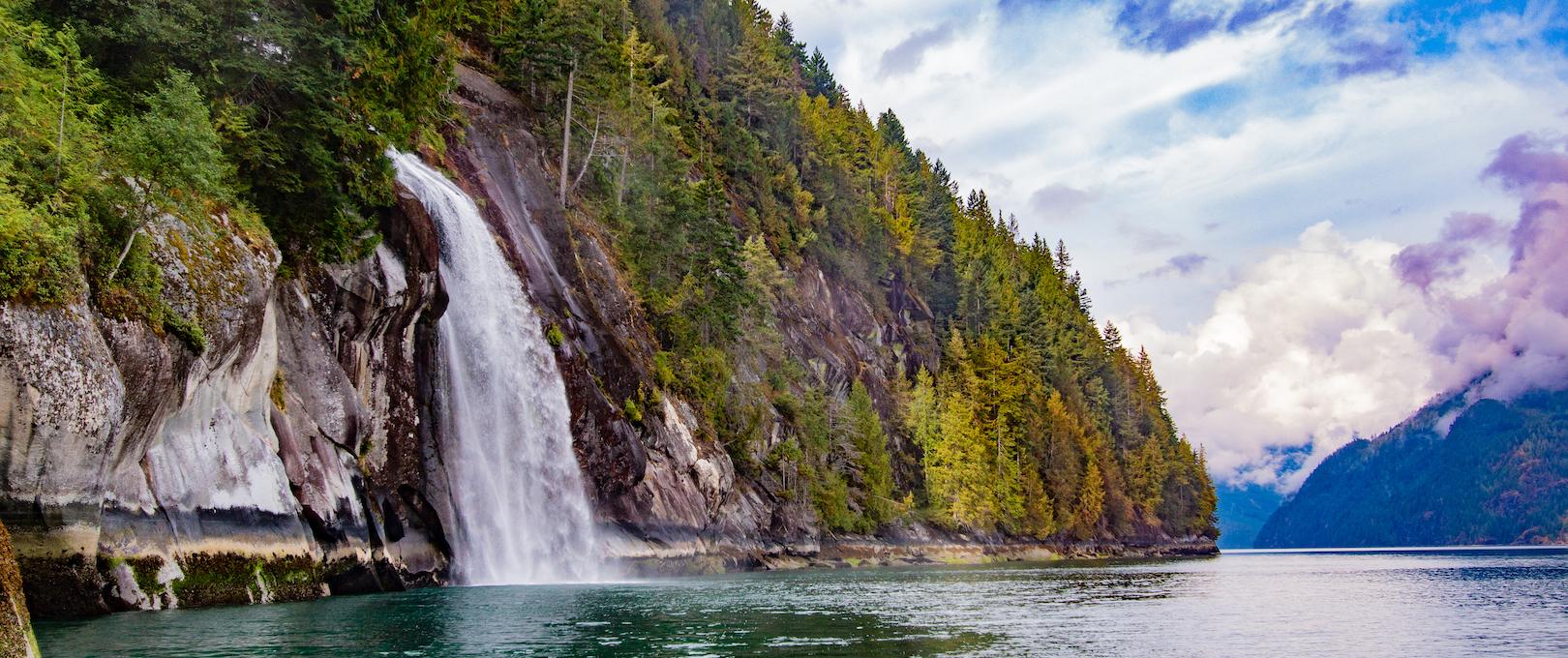 Waterfall deep in Toba Inlet